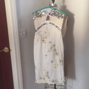 ** WORN ONCE ** Beautiful detailed white dress